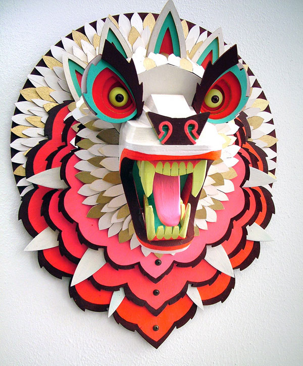 Trippy Wood Sculptures by AJ Fosik