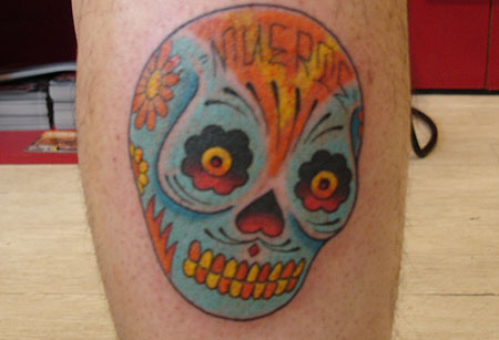 The first tattoo I made in Japan was this cute little Day of the Dead skull.
