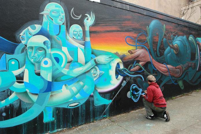 граффити рыбалка